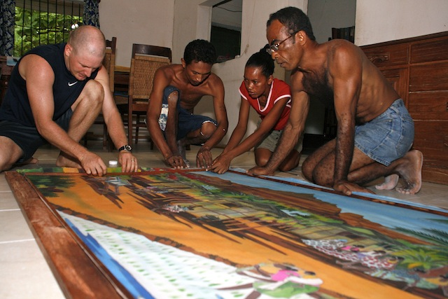 framing batiks